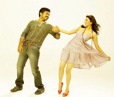 Kajal agarwal and karthi in romance scene