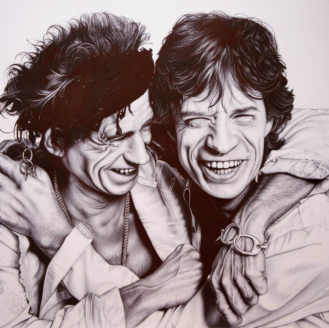 05-The-Rolling-Stones-Eva-Garrido-Ballpoint-Bic-Pen-Portrait-Drawings-www-designstack-co