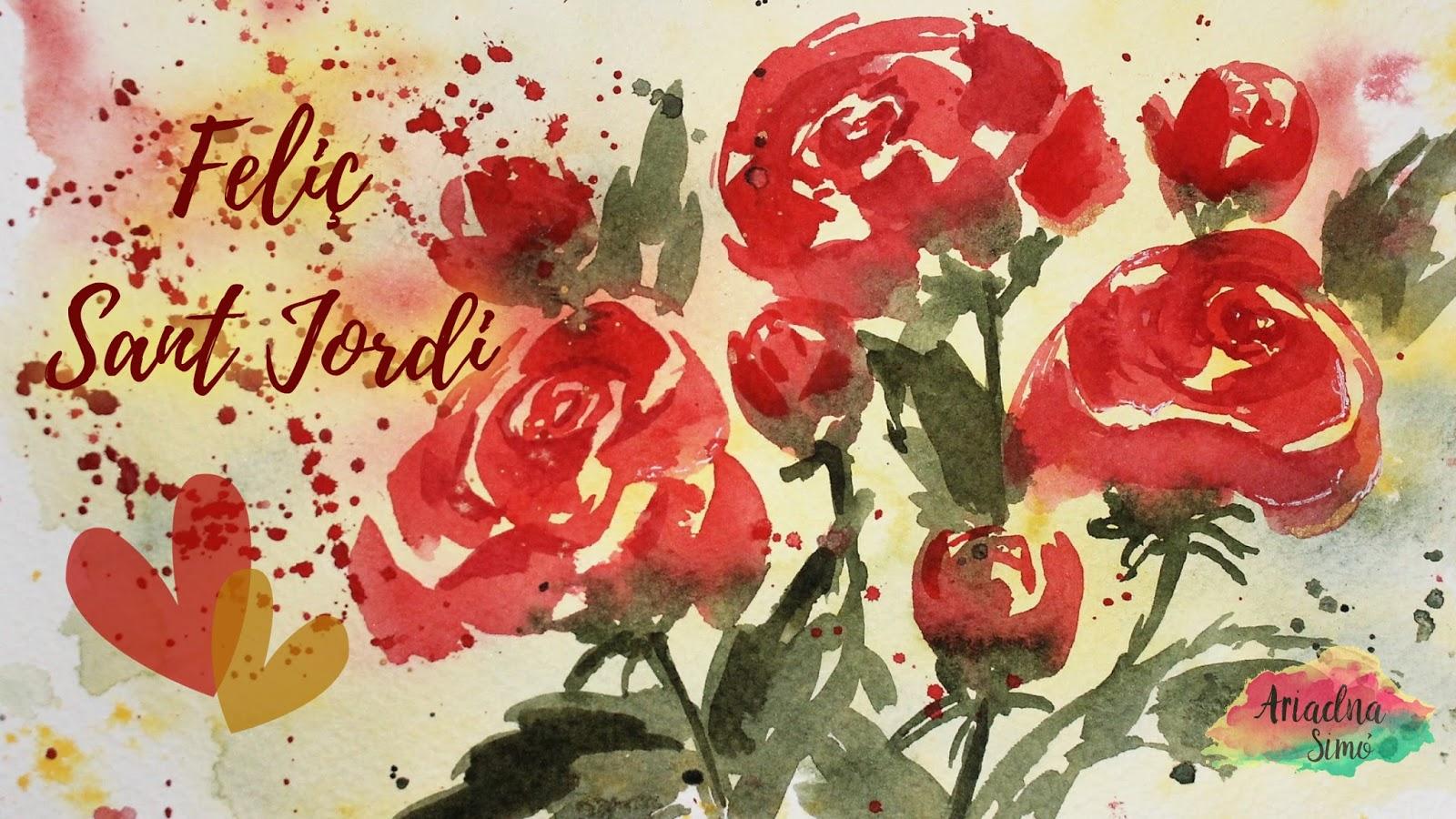 Arte Artesania Y Manualidades Feliç Sant Jordi Como Pintar Rosas