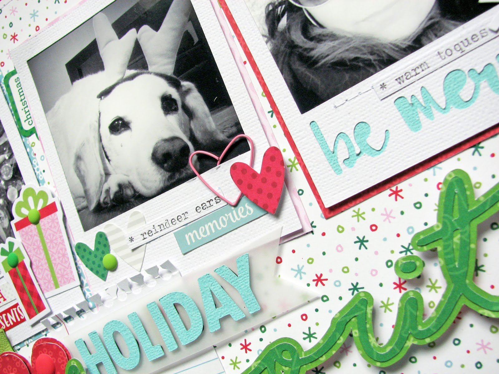 How to scrapbook a holiday - Each Issue Dt Members Get Assignments To Work On Specific Themes Or Techniques Etc I Was Lucky Enough To Just Have To Do A Holiday Themed Layout