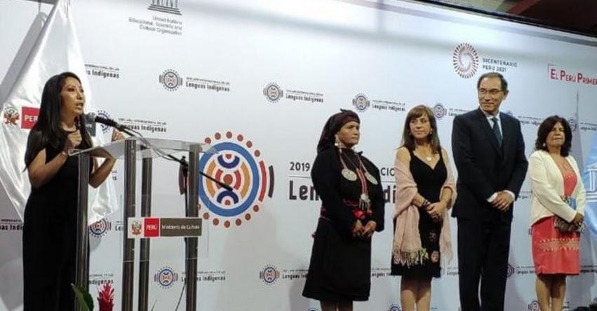 Presidente Vizcarra participó en lanzamiento del «Año Internacional de las Lenguas Indígenas 2019»