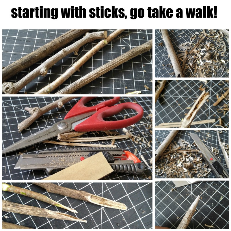 making your own drawing sticks