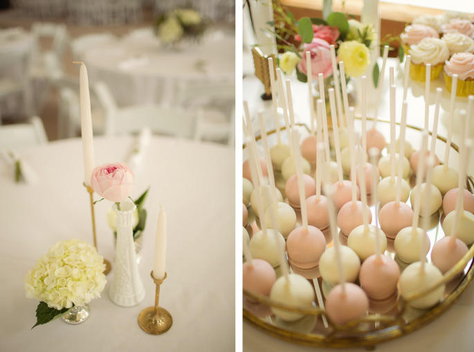 Pink and White / Cake Pops