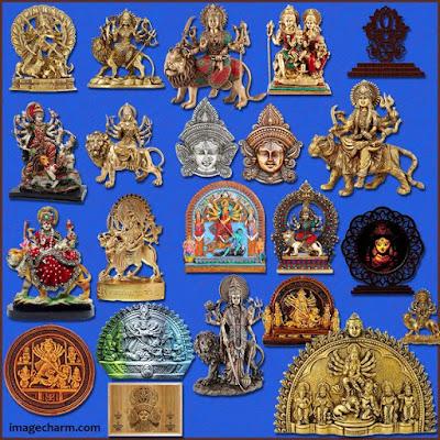 Maa Durga decorative real idol png