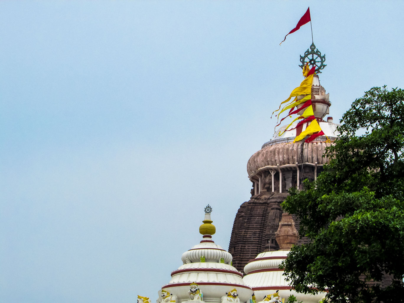 Roof flag of the Jagannath Temple of Puri