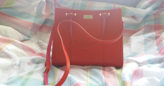 Kate Spade Small Elodie in Red & Pink Handbag Review