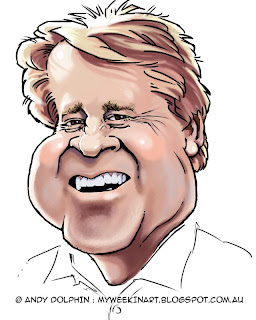 Rick Wilson, O'Connor, caricature by Andy Dolphin