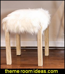Somette Faux Wool 15-inch Square Stool