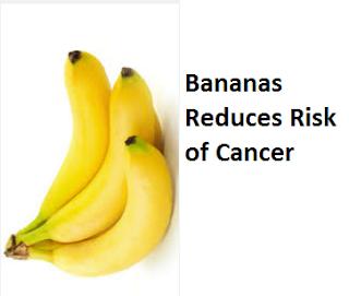 Health Benefits of Banana fruit - Bananas Reduces Risk of Cancer