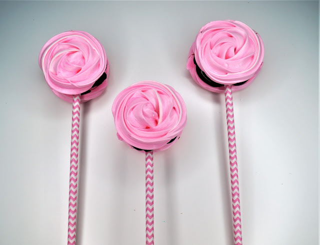 Meringue rose pops recipe
