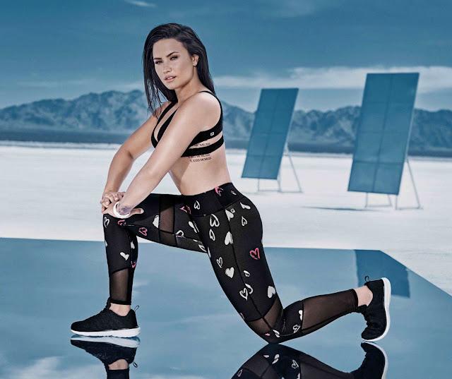 Demi Lovato exercising in sizzling Black