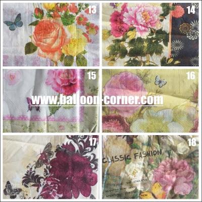 Paper Napkin Servietten / Kertas Tissue Decoupage / Tisu Decoupage Motif Baru