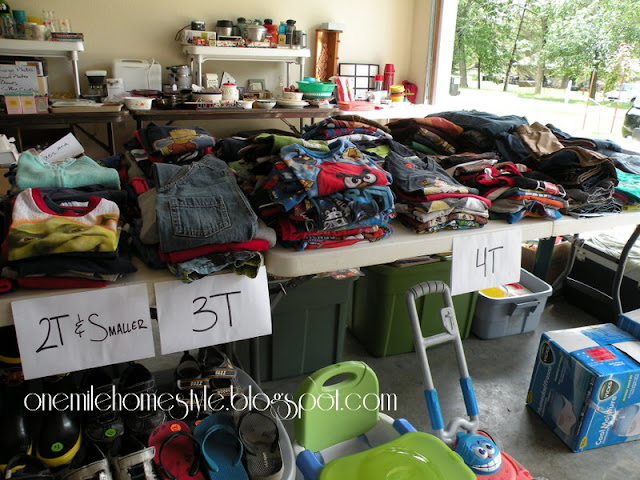 Garage Sale Organization & Tips - Organizing Kids Clothes