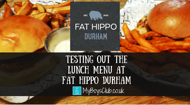 Testing out the lunch menu at Fat Hippo Durham