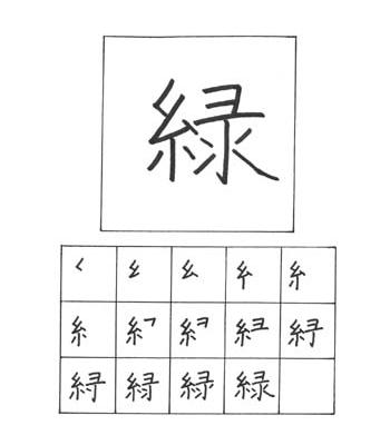 kanji hijau