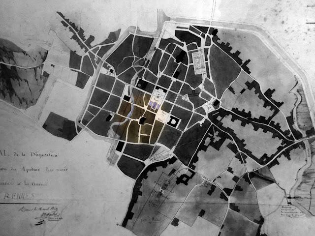 Plan général de la disposition et de la construction des aqueducs (Charles Millet 1829 - Reproduction)
