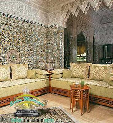 Salon marocain sous une vision traditionnelle pour 2017