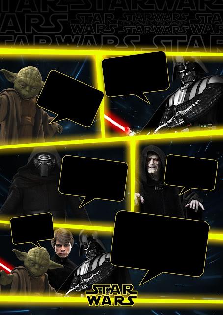 Para hacer Invitaciones, Tarjetas, Marcos de Fotos o Etiquetas de Star Wars para Imprimir Gratis.
