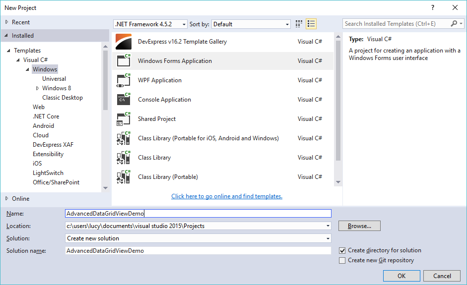 advanced datagridview c#