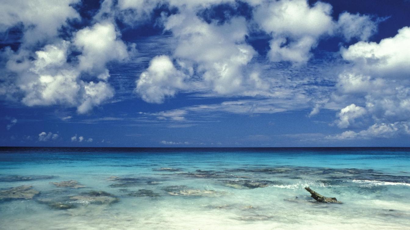 Caribbean Beach Desktop Wallpapers 1344 X 756 Hd Beach