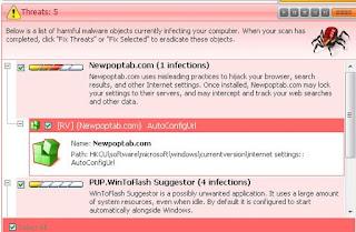 Virus iklan yang menginfeksi browser