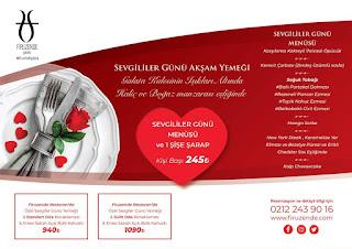 firuzende restaurant menü sevgililer günü galata istanbul