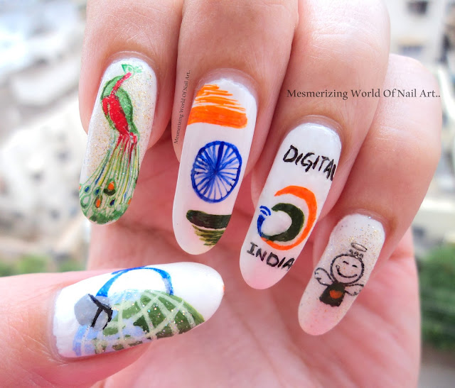 Mesmerizing world of nail art independence day nail art prinsesfo Image collections