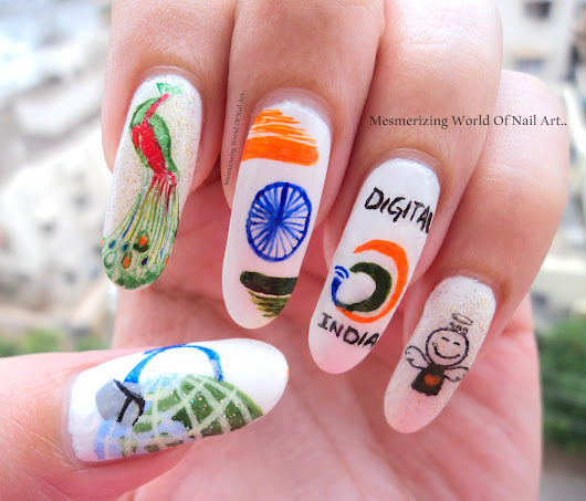 Indepence Day Nail Art 2015