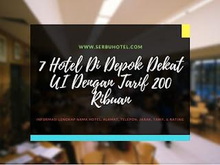 7 Hotel Di Depok Dekat UI Dengan Tarif 200 Ribuan