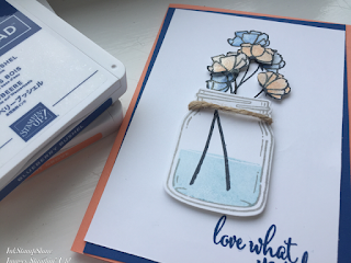 Card using Jar Of Love and Love What You Do stamps from Stampin' Up!