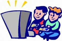 clipart of kids playing video games