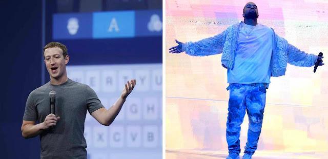 """Kanye West pede a Mark Zuckerberg e Larry Page 1 bilhão para financiar suas """"ideias"""""""