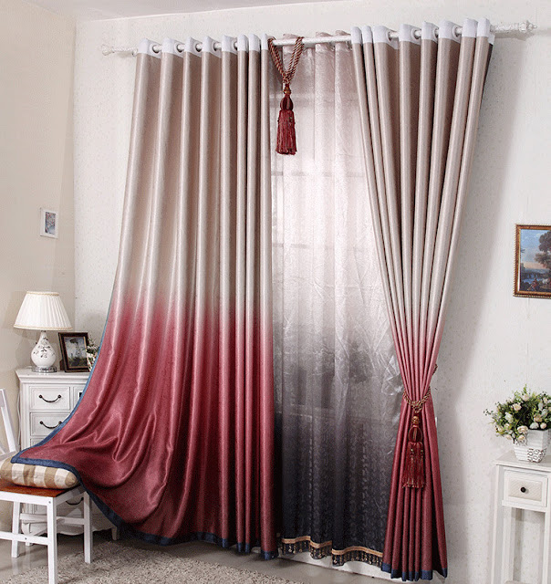 simple custom made drapery curtain with proper length