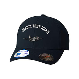 6e9a3cdc2936f2 The best Custom Flexfit Baseball Cap F-16 Fighting Falcon Embroidery Design Polyester  Hat Elastic Dark Navy Small/Medium Personalized Text Here 2019