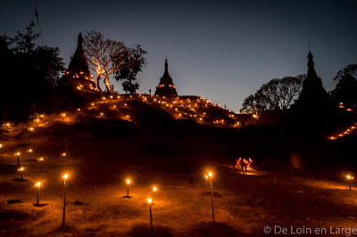 Mrauk-U by night