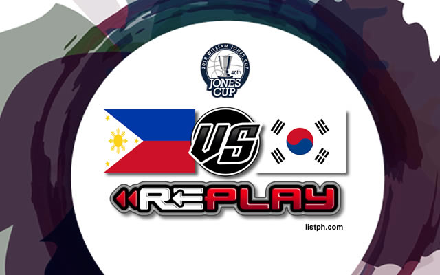 Video Playlist: Philippines vs South Korea game replay July 16, 2018 Jones Cup