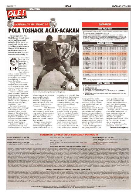 SPAIN LA LIGA SALAMANCA VS REAL MADRID 1-1