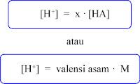rumus konsentrasi h+ asam kuat