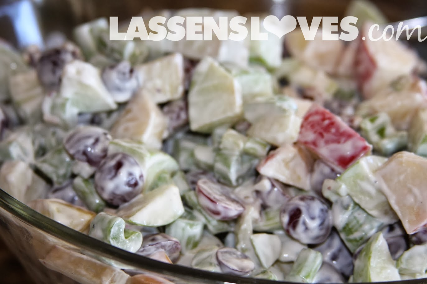lassensloves.com, Lassen's, Lassens, waldorf+salad, grapes, apples, salad