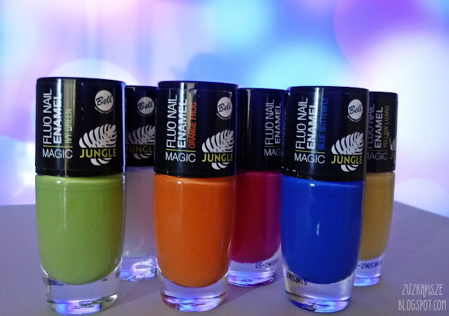 BELL Magic Jungle Fluo Nail Enamel - Lakiery do paznokci