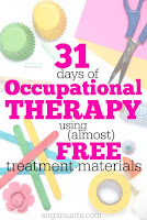 Occupational Therapy treatment tips and tools for pediatrics and school-based therapy using mostly free or inexpensive materials and items you can find around the home.  Great resource and many ideas here!