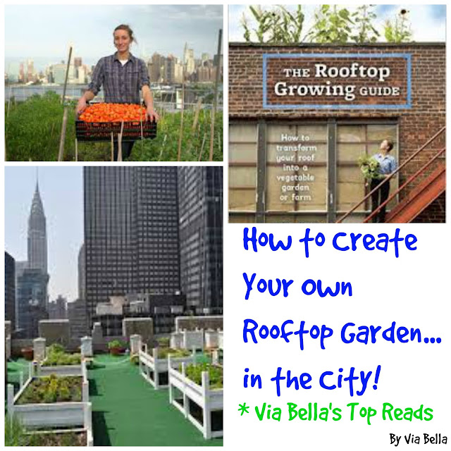 The Rooftop Growing Guide, Book Review, Via Bella's Top Reads, Anne Novak, Urban Garden, Gardening, NYC, DC