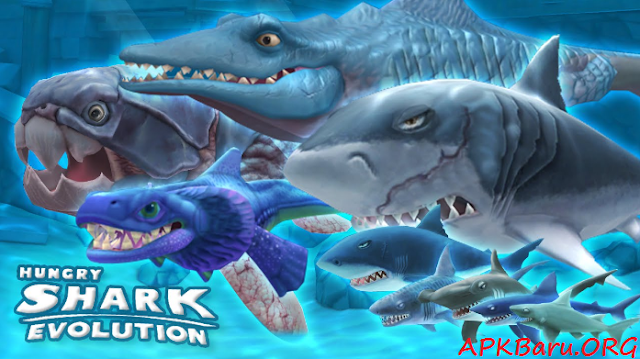 Hungry Shark Evolution v4.2.0 Mod Apk Terbaru
