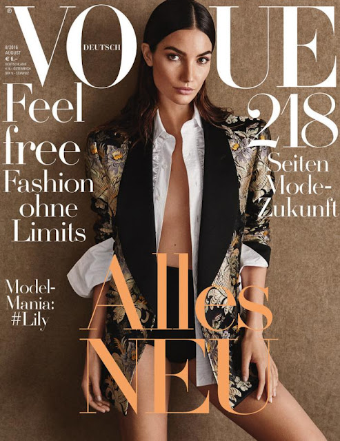 Fashion Model, @ Lily Aldridge - Vogue Germany August 2016