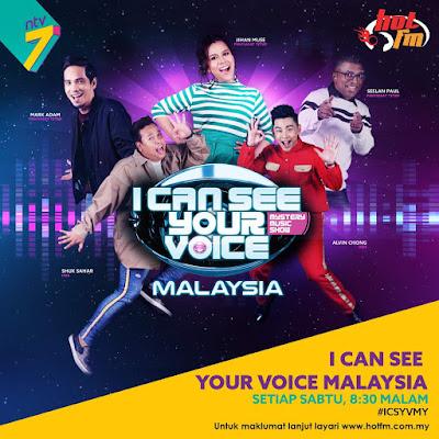 I Can See Your Voice Malaysia, NTV7, Penyiasat, Penyamar Bersuara Sumbang, Penyanyi Sebenar, Hos I Can See Your Voice Malaysia, Shuk Sahar, Alvin Chong, Mark Adam, Jihan Muse, Seelan Paul, Artis Jemputan I Can See Your Voice Malaysia, Chakra Khan, Ayda Jebat, De Fam, Wany Hasrita, Faizal Tahir, Misha Omar, 2018, Rancangan Muzik Misteri, Lawak, Lagu, Menyanyi,