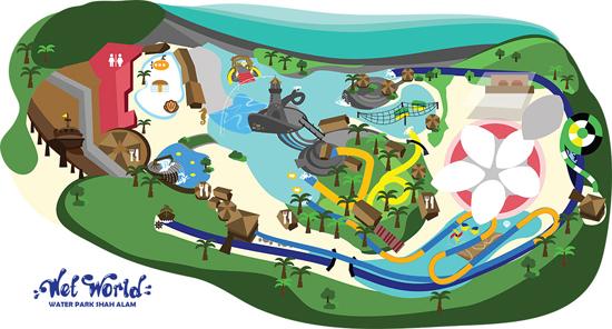 6 Taman Tema Air Harga Bajet Percutian