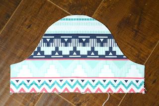 Batik Desenli Elbise Dikimi