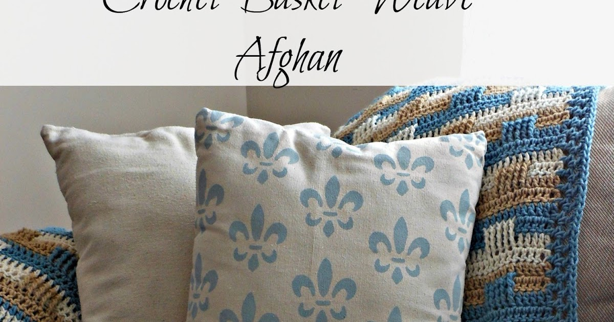 Crochet Afghan And Stenciled Pillow Vintage Paint And More