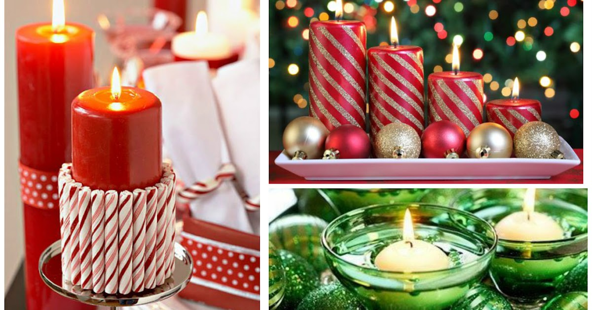 Centros de mesa adornos decorativos con velas para - Adornos navidenos con velas ...