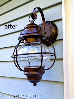 exterior sconce after